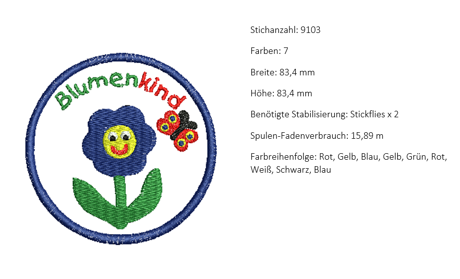 Information zum Stickmuster