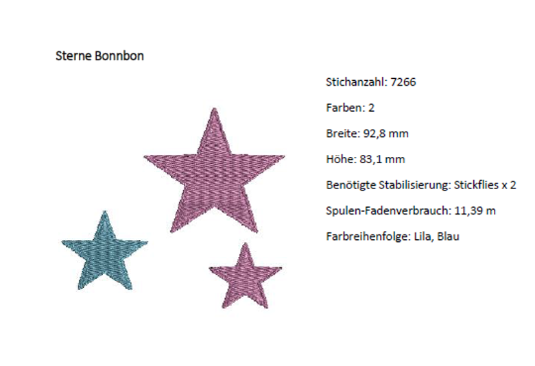 Sterne Stickmuster