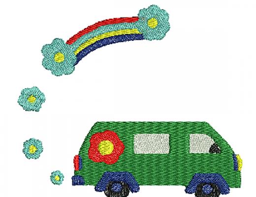 Stickdatei Blumenbus