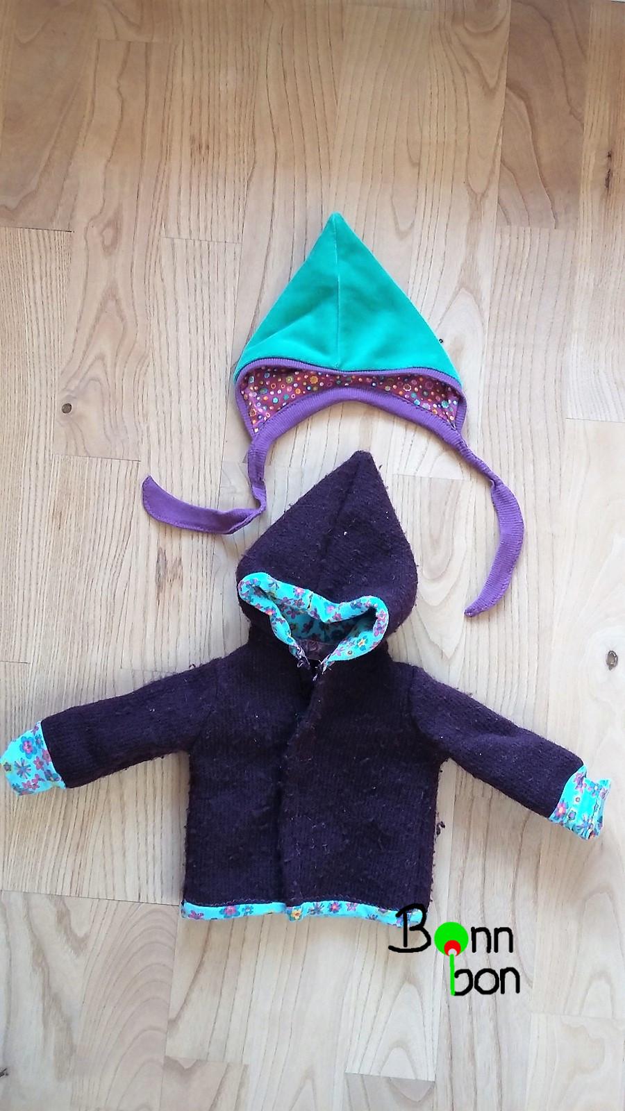 Puppenmütze und Puppenjacke