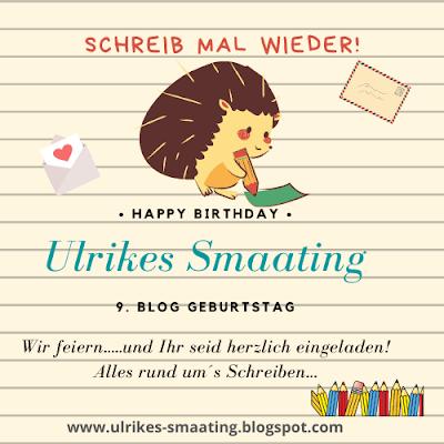 Bloggeburtstag Ulrikes Smaating