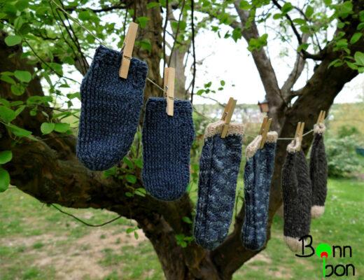 Socken häkeln - Bonnbon